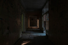 Room Of An Abandoned Ruined Building