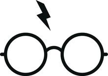Harry Potter Glasses Eps, Graphics, Vector