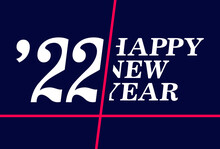 Abstract Banner Happy New Year 2022. Vector, Illustration