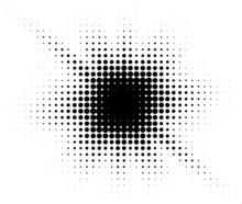 Burst Halftone Light Effect. Glowing Light Burst. Abstract Grunge Halftone Dots Background.
