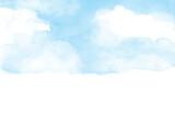 青 空の水彩画