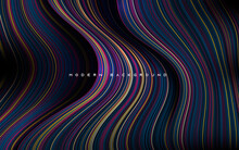 Dynamic Dimension Layers With Gold, Blue And Purple Line Background
