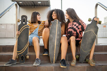Portrait Of Long Board Babes