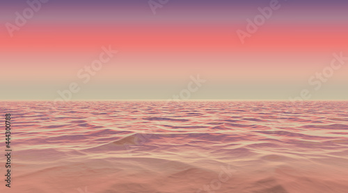 Foto wavy sea water fading into gradient battleship grey rosy brown chestnut and russ