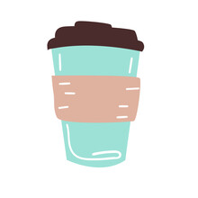 Thermo Mug, Great Design For Any Purposes. Vector Illustration