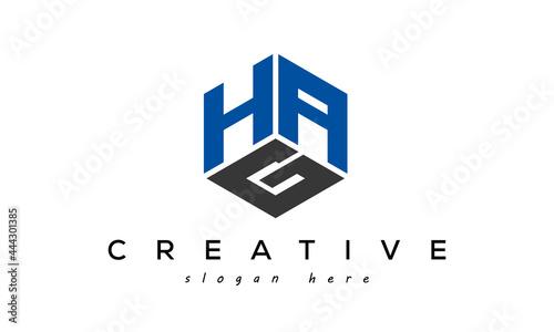 Slika na platnu HAG triangle letter with circle logo