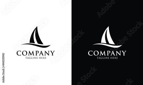 Fotografie, Obraz Sailboat - vector logo template concept illustration