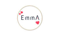 Female Name Emma, Handwritten Lettering . Design For Postcards, Invitations  Banners, Greeting Card, Name.