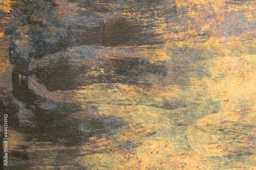Tela the texture of a rusty barrel close-up