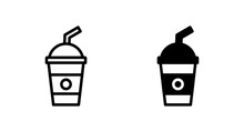 Soft Drink Icon Vector For Web, Computer And Mobile App
