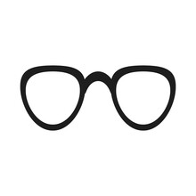 Glasses Fashion Accessory Vector Icon Illustration. Eye Sunglasses Isolated White Style Frame. Retro Glasses Optical Icon Lens Vision Object. Spectacle Silhouette Hipster Element Symbol Eyesight