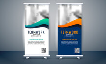 Red-green Blue Purple Colorful Artwork And Image Set Of Roll-up Banner, Roll-up Banner, Banner, Business Corporate Banner Design, Pop-up Banner Design, Creative Banner, Banner Eps.