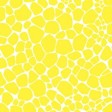 Seamless Pattern Abstract Animal Srots Yellow Color Vector Illustration