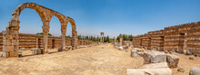 Ancient Ruins In The City Of Anjar, Lebanon.