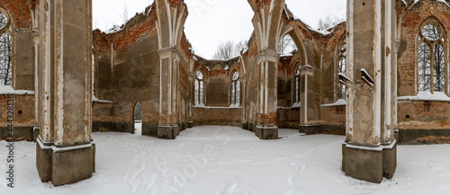 Ruins of St. Anthony's Church - the former parish church located in the village of Jalowka
