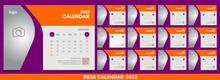 Desk Calendars Ideas For 2022-2023, Calendar 2022 Planner Corporate Template Design Set. Week Starts On Monday. Template For Annual Calendar 2022