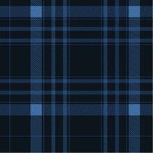 DARK Blue Plaid Pattern Vector In Dark Blue And Seamless Textured Tartan Check Plaid Graphic Used In Flannel Shirt, Skirt, Blanket, Throw, Other Modern Spring Summer Autumn Winter Fashion Textile