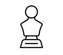 Statue Honor Single Isolated Icon With Outline Style