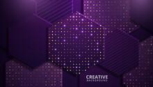 Purple Modern Vector Background Overlap Multi Paper Lighting. Vector Illustration