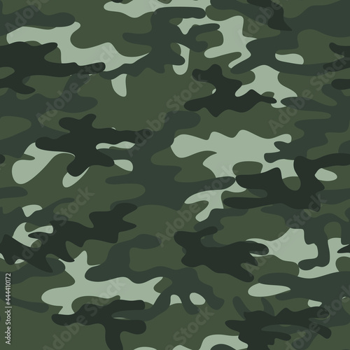 Fotografia Abstract camouflage in dark color. Vector print for printing.