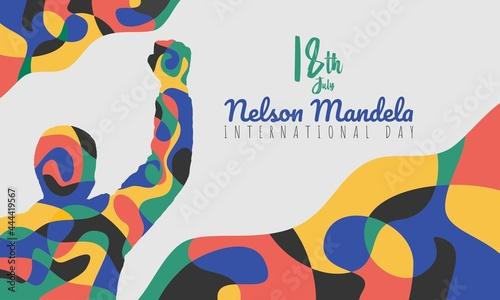 Fotografia Abstract Banner Illustration of Nelson Mandela International Day Vector