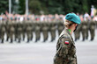 Żandarmeria wojskowa na promocji na stopień oficerski w wojsku polskim akademia wojsk lądowych wrocław.