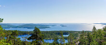 Panorama View Of The Baltic Sea Coast At Skuleskogen Nation Park In Northern Sweden