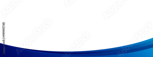 Obraz na plátně Abstract blue curve shape design for template