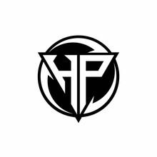 HP Logo Monogram Design Template