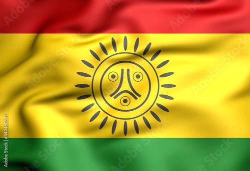 3D Flag of Jatibonicu Taino Tribal Nation of Boriken, Puerto Rico Fototapeta