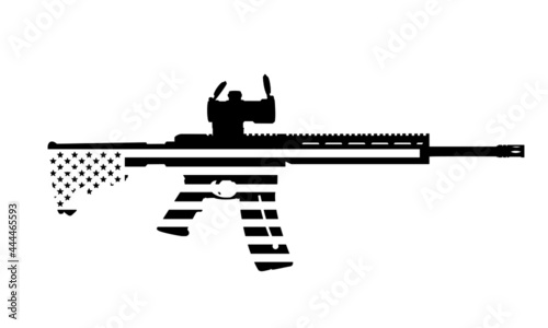 Foto AR15 Smith and Wesson MP 15 22 Gun Silhouette American Flag