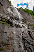Hickory Nut Falls, A Waterfall Located In Chimney Rock State Park In North Carolina
