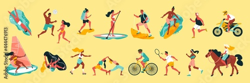 Slika na platnu Summer Sport Color Set
