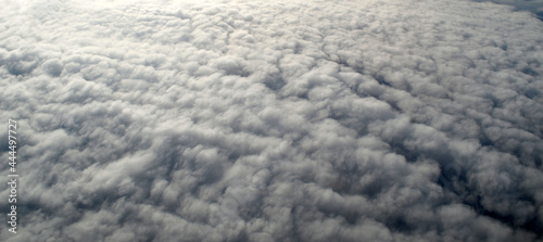 Fotografiet Aerial view of clouds and sky