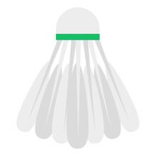 Badminton Birdie Icon, Flat Design Of Shuttlecock