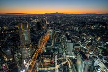 Sunset View Of Tokyo City, Shibuya Sky