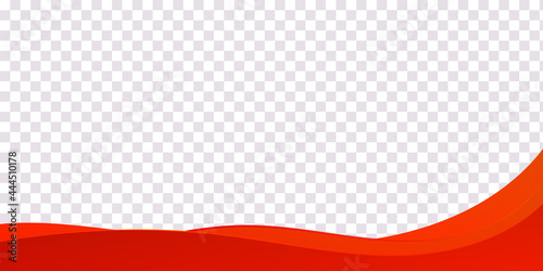 Fotografie, Obraz Abstract red curve alternating wave