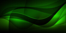 Modern Green Abstract Backdrop Wallpaper Design. Dark And Green Gradient Shapes Background