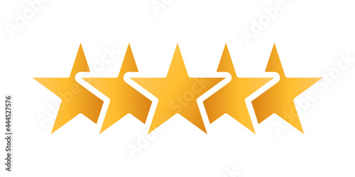 Stampa su Tela Customer review rating icon vector illustration