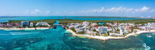 Aerial Photos Of Luxury Hotels And Resorts Surrounding Beaches And Clear Blue Turquoise Sea Water