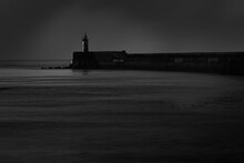 Newhaven Lighthouse Fine Art In Black And White