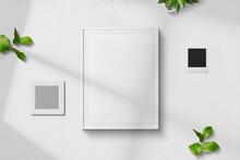 Fond Blanc Moderne Carte Mock Up Scene Vue De Dessus Background