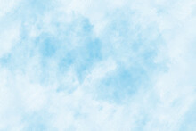 Blue Sky And White Cloud Vector Nature Background. Watercolor Clouds In Sky Vector Illustration
