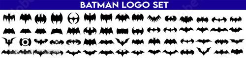 Leinwand Poster Set Of Batman Logo. Batman Icons Set.