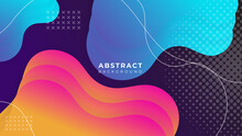 Color Gradient Background Design. Abstract Geometric Background With Liquid Shapes. Cool Background Design For Posters, Brochure, Business Card, Template, Presentation. Vector Illustration.