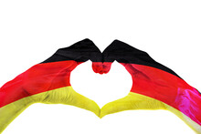 Hands Painted In German Flag And Make Heart Symbol