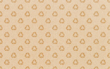 Recycle Symbol Pattern On Brown Paper Background