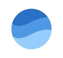 Blue Circle Logo Vector Design Template