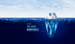 Leinwandbild Motiv Discover hidden mindfulness concept with iceberg