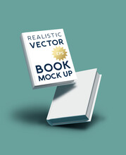 Blank Realistic Book Cover Mockup - E-book And Marketing Template Vector Illustration.